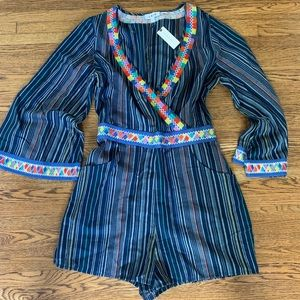 Anthropologie Laia Embroidered Romper Size M NWT